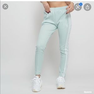 adidas SST 3 Stripe Mint Green Track Pants